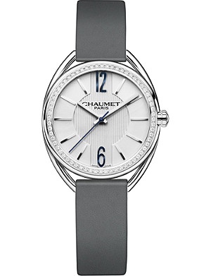 CHAUMET W2321101A Liens stainless steel, diamond and leather watch