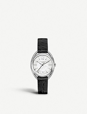 CHAUMET W23213-24A Liens Lumiere diamond, mother-of-pearl and alligator-leather watch