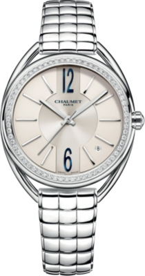 CHAUMET W2367101A Liens stainless steel and diamond bracelet watch