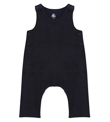 8013ef7434bf PETIT BATEAU - Baby boys velour overalls