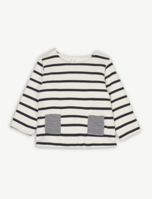 PETIT BATEAU Sailor stripe cotton jumper 1-12 months