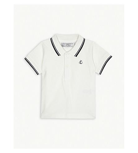 petit bateau logo striped cotton polo shirt 3 24 months. Black Bedroom Furniture Sets. Home Design Ideas