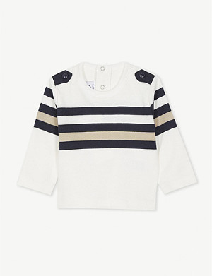 PETIT BATEAU Long-sleeved cotton sailor top 3-36 months