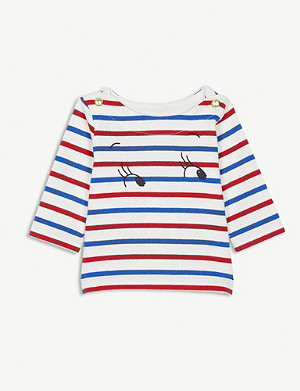 PETIT BATEAU Nautical stripe cotton top 3-36 months