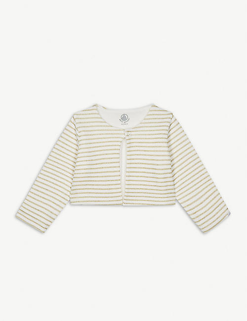 PETIT BATEAU Stripe print cotton-blend cardigan 1-36 months
