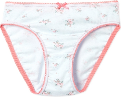 PETIT BATEAU Floral knickers 2-12years