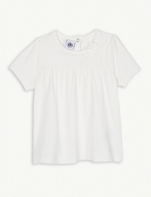 PETIT BATEAU Bow collar cotton T-shirt dress 3-36 months