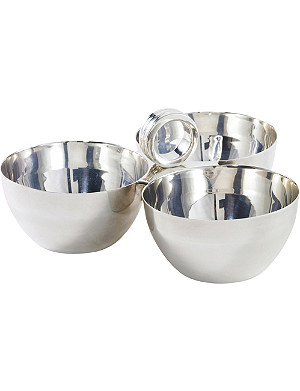 RALPH LAUREN HOME Montgomery silver-plated nut bowl