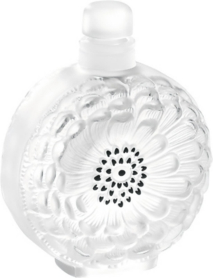 LALIQUE Dahlia crystal perfume bottle N°3