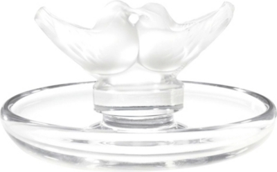 LALIQUE Lovebirds crystal glass bowl