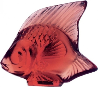 LALIQUE Glass fish ornament