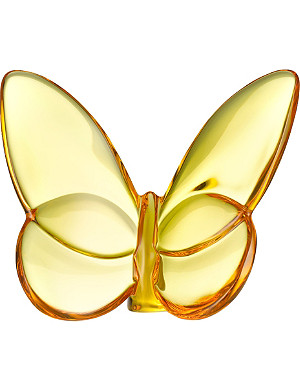 BACCARAT Yellow crystal butterfly