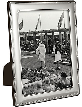 "CARRS OF SHEFFIELD: Reed and Ribbon sterling silver photo frame 10"" x 8"""