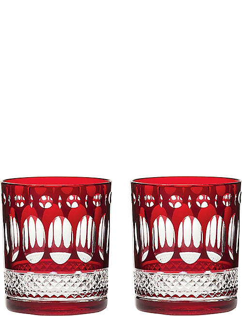 ROYAL SCOT CRYSTAL: Belgravia set of two large crystal tumblers