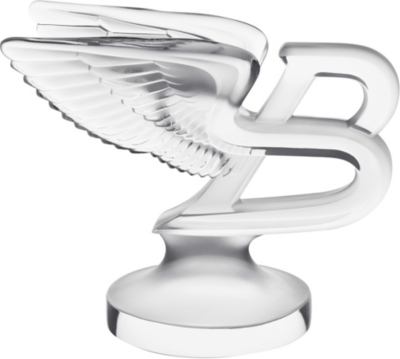 LALIQUE Clear crystal Flying B paperweight