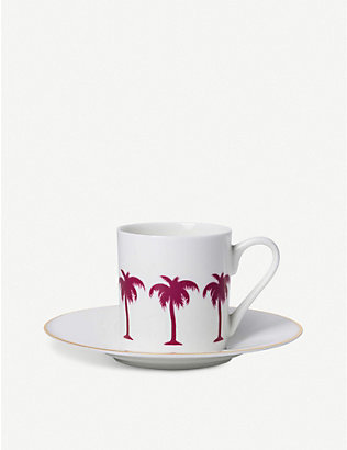 ALICE PETO: Palm Tree cup and saucer set