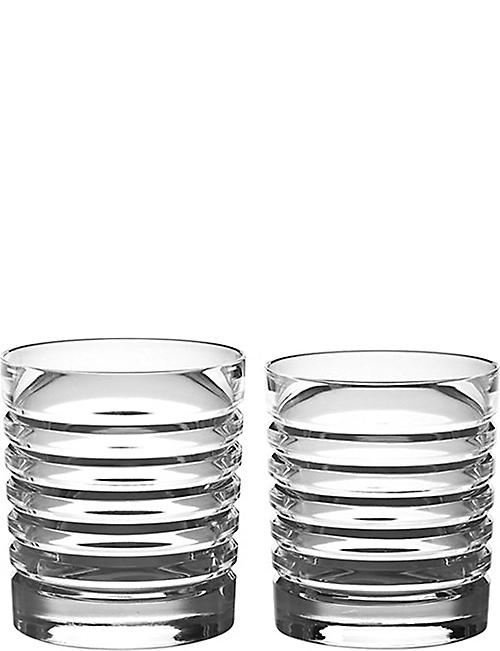 RALPH LAUREN HOME Metropolis set of two beveled tumblers