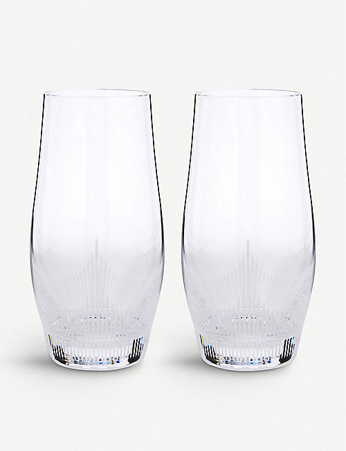 LALIQUE 100 points large crystal highball glasses