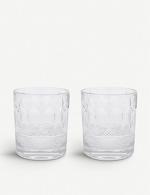 ROYAL SCOT CRYSTAL Belgravia set of two large crystal tumblers