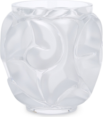 LALIQUE Tourbillons crystal vase