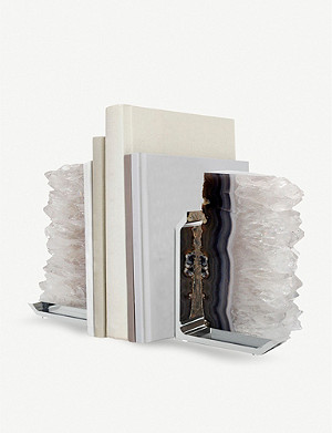 ANNA NY BY RABLABS Agate druze bookends