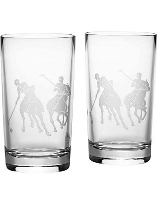 RALPH LAUREN HOME: Garrett set of two highball glasses
