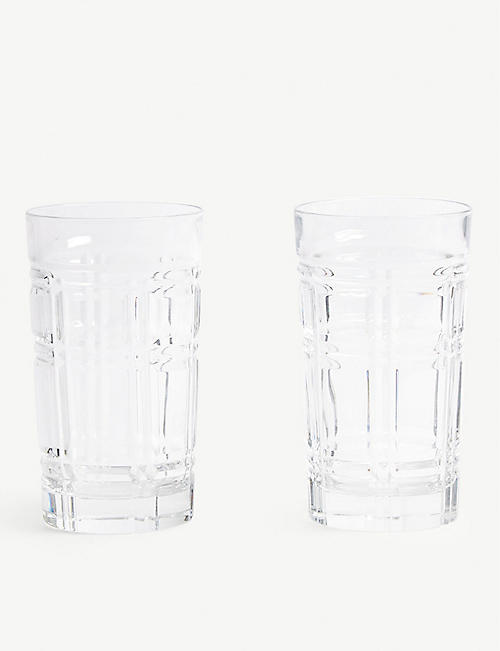RALPH LAUREN HOME Greenwich highball glasses set of two