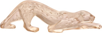 LALIQUE Zeila small crystal glass panther ornament
