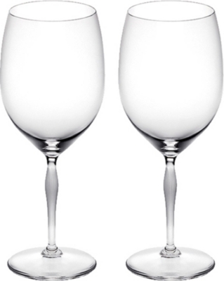 LALIQUE Pair of bordeaux glasses, lalique