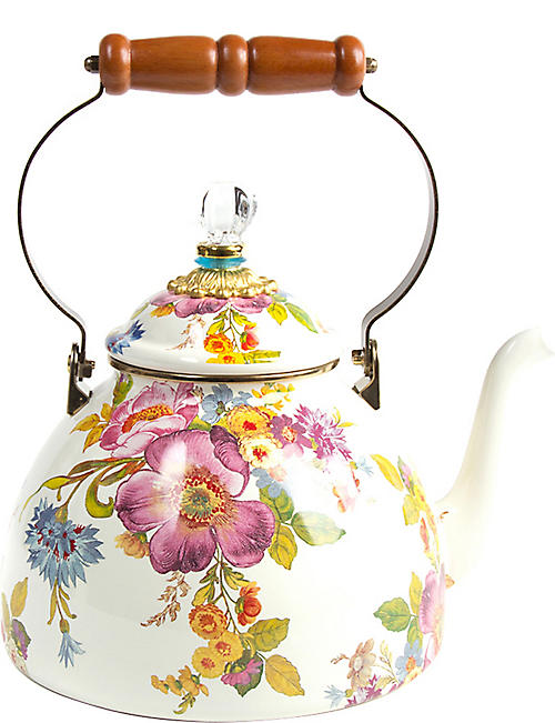 MACKENZIE CHILDS: Flower Market tea kettle