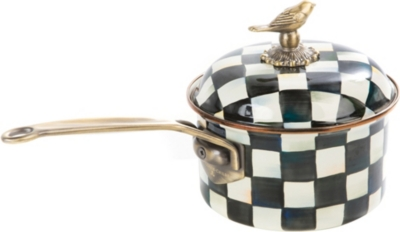 MACKENZIE CHILDS Courtly Check enamel saucepan 2.5qt