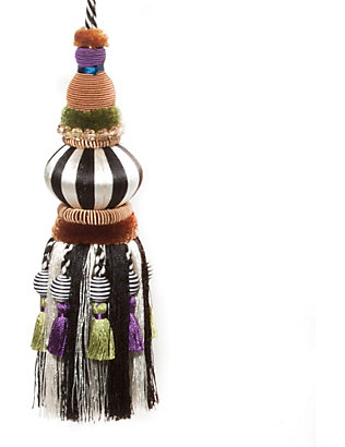 MACKENZIE CHILDS: Bibelot black and white tassel