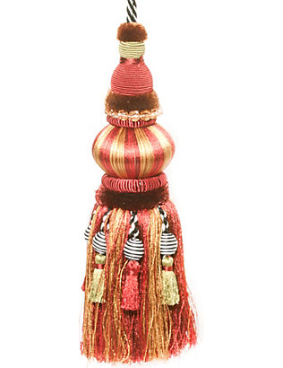 MACKENZIE CHILDS: Bibelot red and gold tassel
