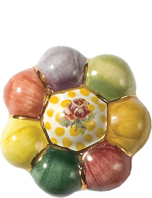 MACKENZIE CHILDS: Rosie posie ceramic flower knob