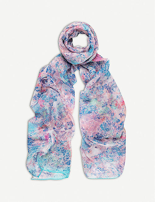 BEATRICE JENKINS: Rock and Roll silk scarf