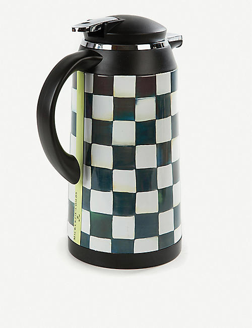 MACKENZIE CHILDS Courtly Check coffee carafe