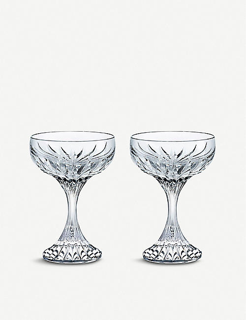 BACCARAT Masséna Coupe crystal champagne glasses set of two