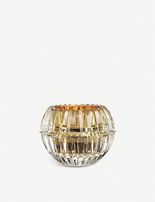 BACCARAT Mille Nuits crystal and 20ct gold-gilded votive 6.6cm