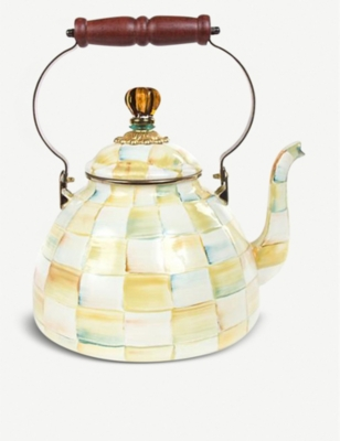 MACKENZIE CHILDS Parchment Check Tea Kettle 3.40L