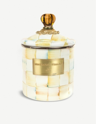 MACKENZIE CHILDS Parchment Check small canister 19cm