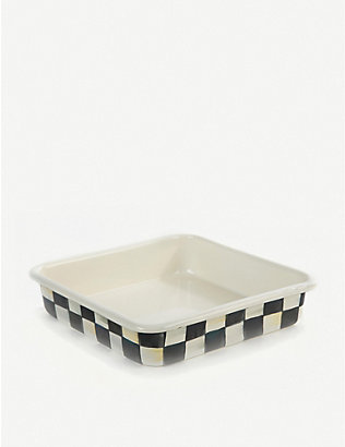 MACKENZIE CHILDS: Courtly Check large stainless steel baking pan 20cm x 20cm