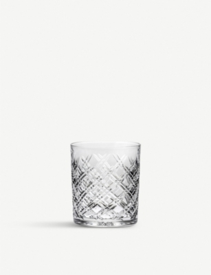 ROYAL SCOT CRYSTAL Tartan set of 2 crystal large tumblers