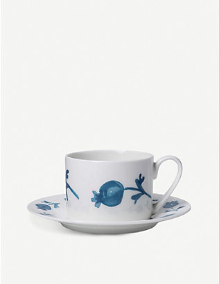 ALICE PETO: Rose Hip ceramic coffee cup and saucer