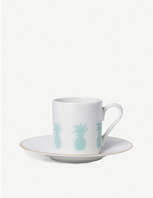 ALICE PETO: Pineapple espresso cup and saucer set