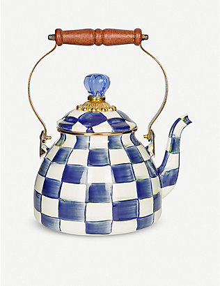MACKENZIE CHILDS: Royal Check tea kettle 2.3l