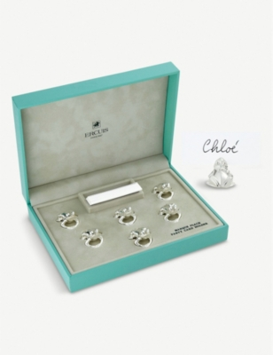 ERCUIS Set of six frog place holders