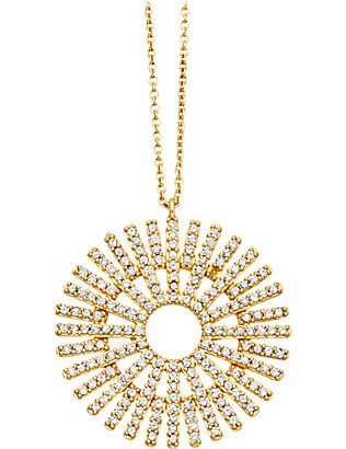 ASTLEY CLARKE: Rising Sun large 18ct gold diamond pendant