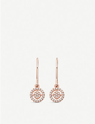 ASTLEY CLARKE: Mini icon Aura 14 carat rose gold earrings