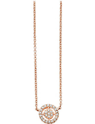 ASTLEY CLARKE: Mini Icon Aura 14ct rose-gold and diamond pendant necklace