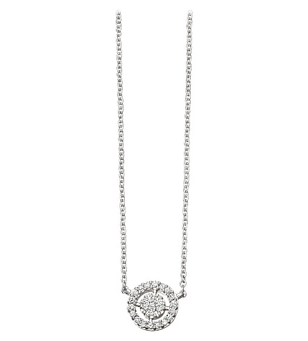 Astley Clarke Mini Icon Aura 14ct white-gold and diamond pendant necklace